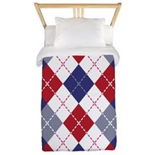 Patriotic Argyle Twin Duvet