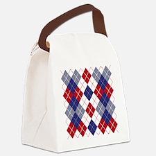 Patriotic Argyle Canvas Lunch Bag