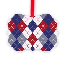 Patriotic Argyle Ornament