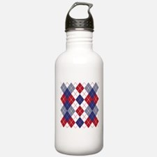 Patriotic Argyle Water Bottle