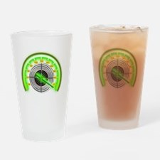 Green Target Counter Drinking Glass