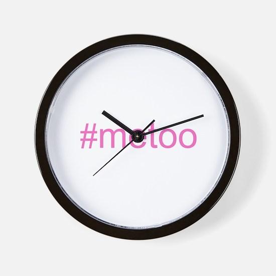 metoo w hashtag Wall Clock