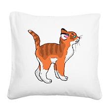 Orange Kitten Square Canvas Pillow