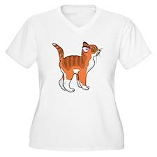 Orange Kitten Plus Size T-Shirt