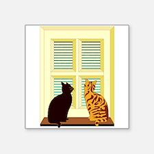 Cats At Window Sticker