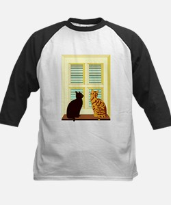 Cats At Window Baseball Jersey