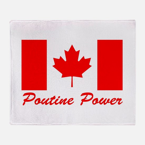 Poutine Power Throw Blanket