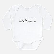 Cute Level 1 Long Sleeve Infant Bodysuit