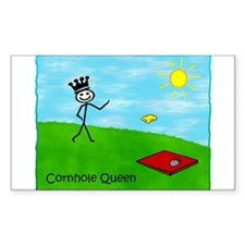 Stick Person (Cornhole Queen) Sticker (Rectangula
