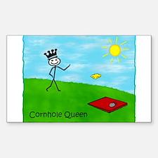 Stick Person (Cornhole Queen) Sticker (Rectangula