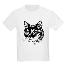 Cat Face Drawing T-Shirt