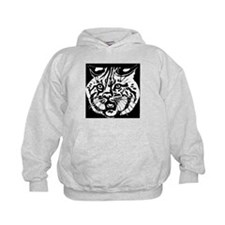 Cat Face Drawing Hoodie