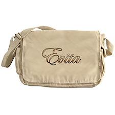 Gold Evita Messenger Bag