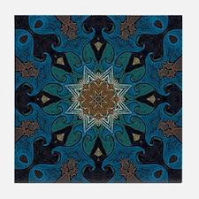 Damascus Art Mandala Tile Coaster