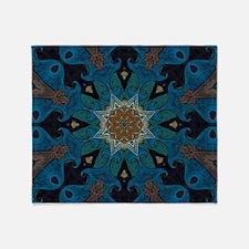 Damascus Art Mandala Throw Blanket