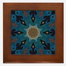 Damascus Art Mandala Framed Tile