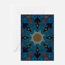 Damascus Art Mandala Greeting Cards