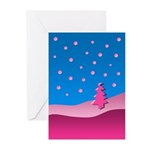 Little Pink Tree Greeting Cards