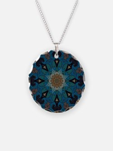 Damascus Art Mandala Necklace
