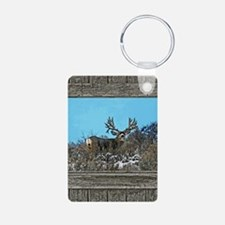 Old Cabin Window Monster b Aluminum Photo Keychain