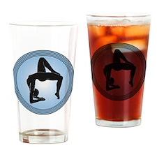 Yoga Upwards Bow Blue Drinking Glass
