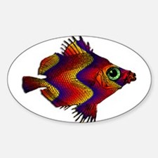 Green Eyed Discus Fish in Purple, Gold Or Decal