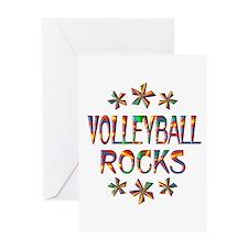 Volleyball Rocks Greeting Card