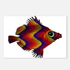 Green Eyed Discus Fish in Postcards (Package of 8)