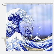 Monogram A Surf's Up! Shower Curtain