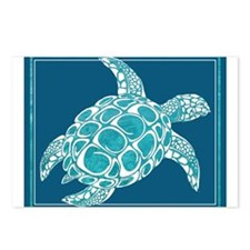 Aqua Sea Turtle Postcards (Package of 8)