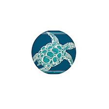 Aqua Sea Turtle Mini Button