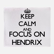 Keep calm and Focus on Hendrix Throw Blanket