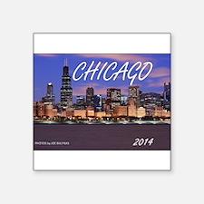 "Cool Chicago Square Sticker 3"" x 3"""