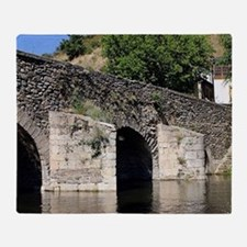 Roman Bridge, El Camino, Molinaseca, Throw Blanket