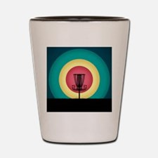 Disc Golf Basket Silhouette Shot Glass