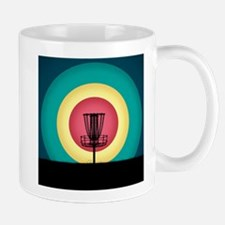 Disc Golf Basket Silhouette Mugs
