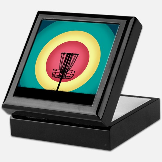 Disc Golf Basket Silhouette Keepsake Box