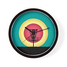 Disc Golf Basket Silhouette Wall Clock