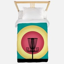 Disc Golf Basket Silhouette Twin Duvet