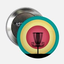 """Disc Golf Basket Silhouette 2.25"""" Button (100 pack"""