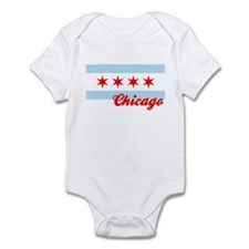Chicago Flag  Design #2 Infant Bodysuit