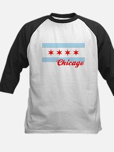 Chicago Flag  Design #2 Kids Baseball Jersey