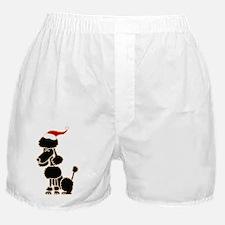 Christmas Poodle Boxer Shorts