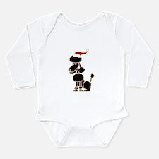 Christmas Poodle Body Suit