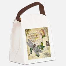 Dragonfly collage Canvas Lunch Bag