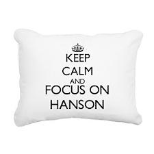 Keep calm and Focus on H Rectangular Canvas Pillow