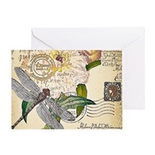 Dragonfly collage Greeting Cards