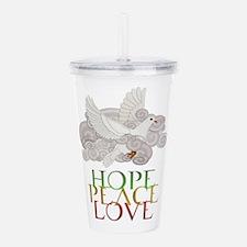 Hope Peace Love Holiday Dove Acrylic Double-wall T