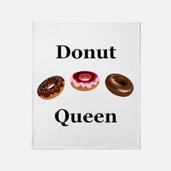 Donut Queen Throw Blanket
