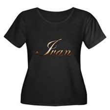 Gold Ivan Plus Size T-Shirt